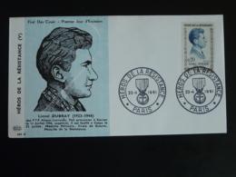 FDC Lionel Dubray Héros De La Résistance Paris 1961 - Guerre Mondiale (Seconde)