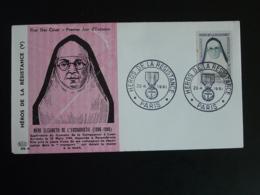 FDC Mère Elisabeth Héros De La Résistance Paris 1961 - Guerre Mondiale (Seconde)