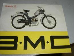 DEPLIANT B.M.C  MODELLO 1D - Motor Bikes