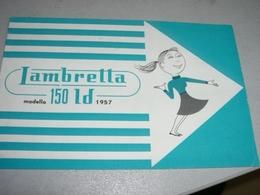 DEPLIANT LAMBRETTA 150LD 1957 - Motor Bikes