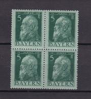 Bayern - 1911 - Michel Nr. 77 II - Viererblock - Ungebr./Postfrisch - Bayern