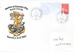 Baptème De Promotion 2003 Santé Navale Samedi 2 Avril 2005 Obl. Bordeaux Santé Marine 02/04/05 Sur PAP (Prêt à Poster) - Marcophilie (Lettres)