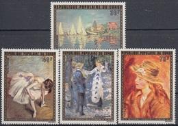 CONGO 436-439,unused,Renoir - Impressionismo