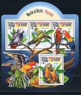 Bloc Sheet Oiseaux Perroquets Birds Parrots Neuf  MNH ** Sierra Leone 2015 - Parrots