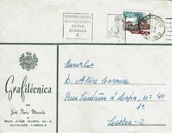 Portugal , 1974 , Monuments Stamp 1$00 , Commercial Cover  GRAFITÉCNICA - Lisboa - 1910-... Republic