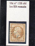 Paris - N° 13B (court) Obl Losange ES Romain - 1853-1860 Napoléon III