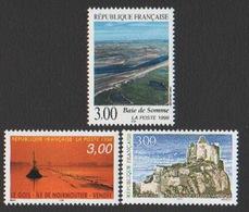 France Neuf Sans Charnière 1998 Série Touristique Complète Château Noirmoutier Baie Somme YT 3167 3168 3169 - Francia