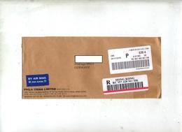 Lettre Recommandée Hong Kong Vignette - Storia Postale