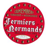ETIQUETTE De FROMAGE..CAMEMBERT Fabriqué En NORMANDIE..Fermiers Normands..Fromagerie à AUNAY Sur ODON ( Calvados 14) - Cheese