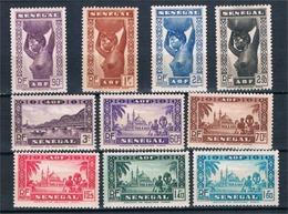 FRANCE  COLONIES  SENEGAL  N°160* à 169* - Unused Stamps