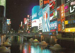 1 AK Japan *  A Night View Of Doutonbori In Osaka - Doutonbori Ist Ein Unterhaltungsviertel In Osaka * - Osaka