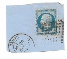 France N° 14A Piquage Susse Sur Fragment Paris Le 20/11/1861 Oblitéré Gros Points & CaD  B/TB Soldé à Moins De 15 %! ! ! - 1853-1860 Napoleon III