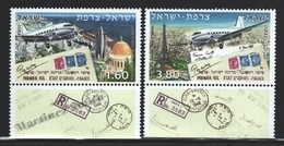 Israel 2008  Yv. 1936-37, Aviation, 50th Ann. First State Flight Israel France – Tab - MNH - Israel