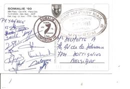 ONU - Missions Humanitaire En Somalie -UNOSOM ( CP De 1993 De Mogadichio Vers La Belgique à Voir) - UNO