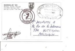 ONU - Missions Humanitaire En Somalie -UNOSOM ( CP De 1993 De Mogadichio Vers La Belgique à Voir) - ONU