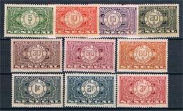 FRANCE  COLONIES  SENEGAL  Taxe N°22* à 31* - Unused Stamps