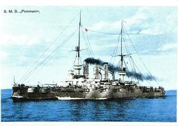 Germany War Ship S.M.S. Pommern - Guerre