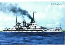 Germany War Ship S.M.S. Nassau - Guerre