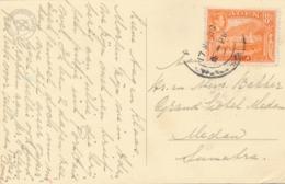 Aden - 1950 - 8A Mukalla On Shipcover DMS DEMPO - Rotterdamsche Lloyd - From Aden To Medan / Indonesia - Aden (1854-1963)