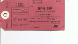 France ( Etiquette De Colis De 1993 De Paris -Tri Armées Vers Djibouti BPM 610 à Voir) - Lettres & Documents