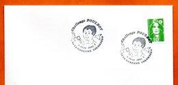 92 LA GARENNE COLOMBES    CHALLENGE POULBOT   1991 Lettre Entière N° NO 484 - Gedenkstempel