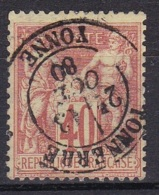France N°70 Type Sage 40 C Rouge Orange - 1876-1878 Sage (Type I)