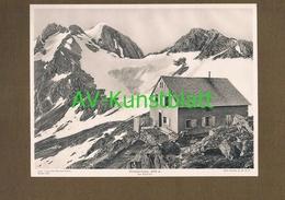 263-2 Stettiner Hütte Rifugio Francesco Petrarca Sektion Stettin Lichtdruck 1908 !! - Historische Dokumente