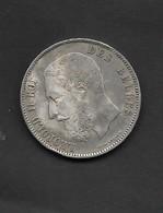 BELGIQUE 5 FRANCS ARGENT LEOPOLD II ROI DES BELGES 1873 - 1865-1909: Leopold II