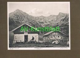 265 Hirzerhütte Rifugio Punta Cervina Sektion Meran Alpenverein Berghütte Lichtdruck 1908 !! - Non Classificati