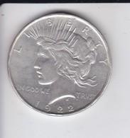 MONEDA DE PLATA DE ESTADOS UNIDOS DE 1 DOLLAR DEL AÑO 1922 PEACE - AGUIL - EAGLE - Émissions Fédérales