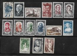 France Timbres De 1950   N°863 A 877 Oblitérés  Cote 102,50€ - France