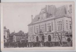 CHAUNY (Aisne) Carte-photo Du 2 Septembre 1944 Arrivée Des Américains FFI Résistance Libération France Libre Us Army WW2 - Chauny
