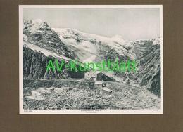 272-3 Edelweißhütte Hütte Ortler Lichtdruck 1908 !! - Documents Historiques