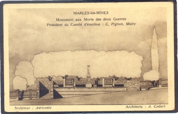 MARLES-LES-MINES - Monument Aux Morts Des Deux Guerres - Audruicq