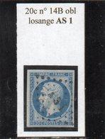 Paris - N° 14B Obl Losange AS1 - 1853-1860 Napoléon III