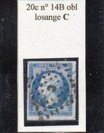 Paris - N° 14B Obl Losange C - 1853-1860 Napoléon III