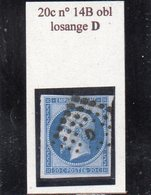 Paris - N° 14B Obl Losange D - 1853-1860 Napoléon III