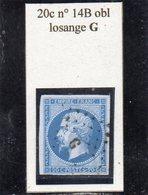 Paris - N° 14B Obl Losange G - 1853-1860 Napoléon III