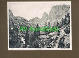 283-2 Canalihütte Rifugio Canali Sektion Dresden Lichtdruck 1908 !! - Documenti Storici