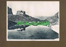 286-2 Karlsbader Hütte Sektion Karlsbad Lienz Lichtdruck 1908 !! - Historische Documenten