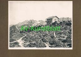 288-4 Hochsteinhütte Sektion Lienz Panorama Lichtdruck 1908 !! - Historische Documenten