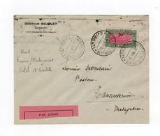 !!! COTE FRANCAISE DES SOMALIS, LETTRE PAR AVION 26/11/1931 RAID FRANCE/MADAGASCAR SALEL ET GOULETTE - Covers & Documents