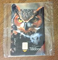 CANADA TÉLÉBEC CHOUETTE HIBOU GRAND DUC PHONECARD NEUVE CARD 10$ QUEBEC CARTE TÉLÉPHONIQUE LAPUCE - Canada