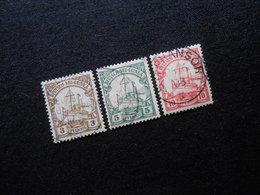 D.R.Mi 7-9 - 3/5/10Pf  Deutsche Kolonien (Deutsch-Neuguinea)  1900/1908 - Mi 7,00 € - Kolonie: Deutsch-Neuguinea