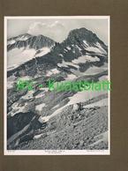 309-2 Barmer Hütte Sektion Barmen Hohe Tauern Lichtdruck 1908 !! - Ohne Zuordnung