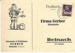 184, 188, Buste Tell, Obl. Niedergösgen 2.X.31, Raison Sociale Tricoterie & Wollehaus Gerger, Reinach - Suisse