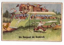 Luxembourg - Diekirch - Bonjour - 1957 - Postcards