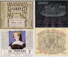 Etiquette  De Vin -  Lot De 7 Etiquettes Fantaisie Différentes  Henri Maire - à Voir.... - Rotwein