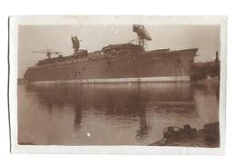 PHOTO 1930 Paquebot NORMANDIE En Construction à SAINT NAZAIRE - Bateaux