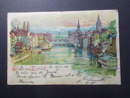Carte Postale - SUISSE - Gruss Aus Zurich - 1904 (3903) - ZH Zurich